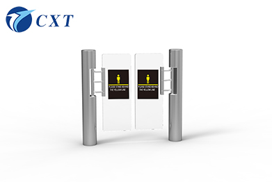 Checkpoint Single Pole Glass Swing Turnstile