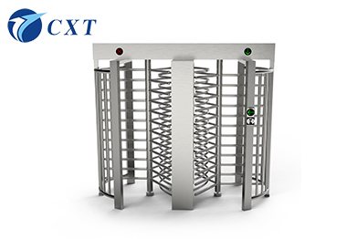 Stainless Steel Full Height Turnstile Double Doors