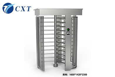 Stainless Steel Full Height Revolving Turnstile Single Door